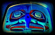 Native Art Digital Art - Totem Face 1 by Randall Weidner