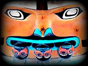 Native Art Digital Art - Totem Face 2 by Randall Weidner