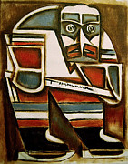 Hockey Player Paintings - Totem Hockey Player by Tommervik
