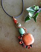 Wirework Jewelry - Totem Necklace by Laura Wells