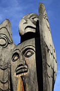 Pole Prints - Totem Pole 7 Print by Bob Christopher