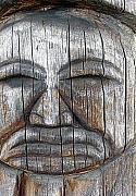 Wood Carving Framed Prints - Totem Framed Print by Robert Trauth