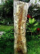 Maya Reliefs - Totem Serpiente Emplumada by Calixto Gonzalez