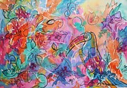Toucan Paintings - Toucan Dreams by Ellen Levinson