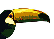 Toucan Digital Art Posters - Toucan Head Poster by Jessica Rost