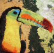 Lint Prints - Toucan Print by Karla Kriss