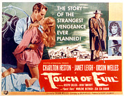 1950s Movies Framed Prints - Touch Of Evil, Charlton Heston, Janet Framed Print by Everett