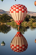 Hot Air Balloon Prints - Touchdown in Prosser Print by Carol Groenen