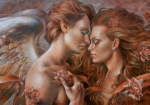 Angel Paintings - Touched by Angel by Arthur Braginsky