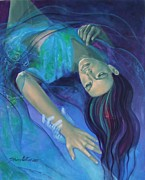 Live Art Posters - Touching the ephemeral Poster by Dorina  Costras