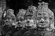 Angkor Thom Prints - Tough Guys Print by Cedric Favero