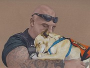 Dog Art - Tough Love by Stacey Jasmin