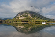 Many Glacier Prints - Tour Boat on Swiftcurrent Lake Print by Greg Nyquist
