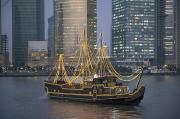 Bund Shanghai Prints - Tour Boat On The Huangpu River Print by Scott S. Warren