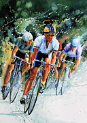 Watercolor Bike Race Posters - Tour de Force Poster by Hanne Lore Koehler
