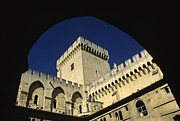 Courtyards Prints - Tour du Palais des Papes en Avignon. Print by Bernard Jaubert