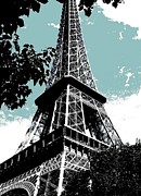 Eifel-tower Framed Prints - Tour Eiffel Framed Print by Juergen Weiss