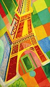 Eiffel Tower Paintings - Tour Eiffel by Pg Reproductions