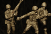 Plastic Models Digital Art - Tour of Duty Toy Soldiers by Randy Steele