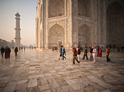 Taj Mahal Prints - Touring Taj Print by Mike Reid