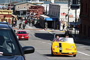 Hyde Street Pier Prints - Touring The Streets of San Francisco California In A Gocar . 7D14100 Print by Wingsdomain Art and Photography