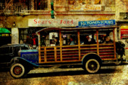 Union Square Prints - Touring The Streets of San Francisco . texture Print by Wingsdomain Art and Photography