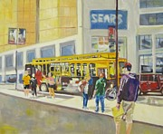 Dundas Paintings - Tourist bus by Julian Marin