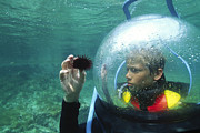Diving Helmet Photo Posters - Tourist Diver Poster by Alexis Rosenfeld