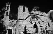 Agia Napa Prints - Tourists At Ayia Napa Monastery Republic Of Cyprus Print by Joe Fox