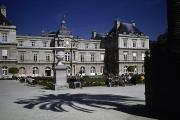 Luxembourg Gardens Prints - Tourists Enjoy The Palais De Luxembourg Print by Taylor S. Kennedy