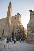 Pharaohs Prints - Tourists Enter Luxor Temple Print by Taylor S. Kennedy