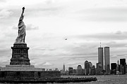Locations Prints - Tourists visiting the Statue of Liberty Print by Sami Sarkis