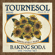 Flora Painting Framed Prints - Tournesol Baking Soda Framed Print by Debbie DeWitt
