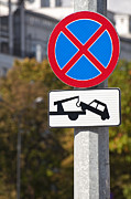 Traffic Sign Photos - Tow away zone sign. by Fernando Barozza