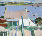 Chimneys Painting Framed Prints - Towards Mull Framed Print by Francis Campbell Boileau Cadell