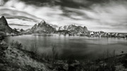 Lofoten Islands Photos - Towards the Mountains by David Bowman