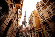 Eiffel Tower Metal Prints - Tower And Buildings Metal Print by TC Lin