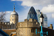 City Photography Digital Art - Tower and Gherkin by Donald Davis