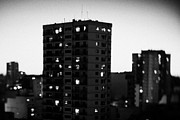 Tilt Shift Posters - Tower Apartment Block In The Evening Buenos Aires Argentina Taken With Tilt Shift Lens Poster by Joe Fox