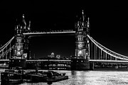Barges Prints - Tower Bridge and Barges Print by Dawn OConnor