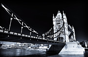 Iconic Design Framed Prints - Tower Bridge Angles Framed Print by John Rizzuto