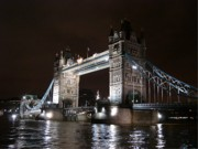 Postcard Suggestions Acrylic Prints - Tower Bridge by Night by Roberto Alamino
