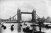 Large Women Prints - Tower Bridge Print by Francis Frith & Co