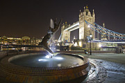Belfast Prints - Tower Bridge Girl with a Dolphin Print by David French