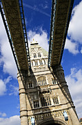 Sightseeing Posters - Tower bridge in London Poster by Elena Elisseeva