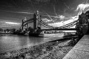 London Olympics 2012 Framed Prints - Tower Bridge in mono Framed Print by Rob Hawkins