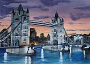 London Painting Prints - Tower Bridge  London Print by Carol Williams