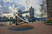 Photography Statue Photography Framed Prints - Tower Bridge London Framed Print by Donald Davis