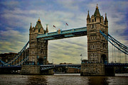 Draw Bridge Prints - Tower Bridge London Print by Heather Applegate