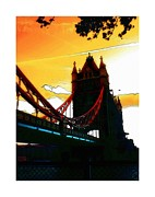 Mystic Sunset Posters - Tower Bridge London Poster by Stefan Kuhn